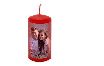 Valentýnská svíčka s fotkou