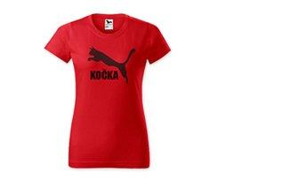 Červené tričko s fotkou
