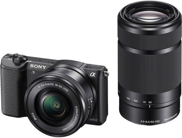 Sony ILCE-5100 + 16-50 mm + 55-210 mm - černý