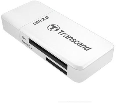Transcend USB 2.0 SD/SDHC Card Reader - white