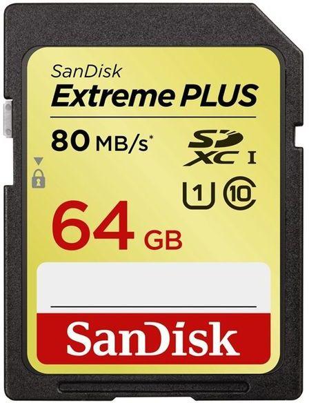 SanDisk SDXC 64GB Extreme Plus UHS-1 80MB/s
