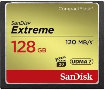SanDisk CF 128GB Extreme 120MB/s