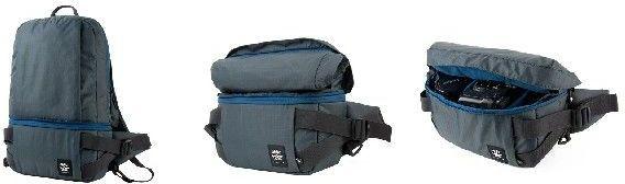 Crumpler Light Delight Foldable Backpack - steel grey