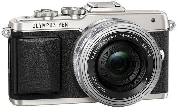 Olympus E-PL7 + 14-42 mm Pancake Zoom - stříbrný